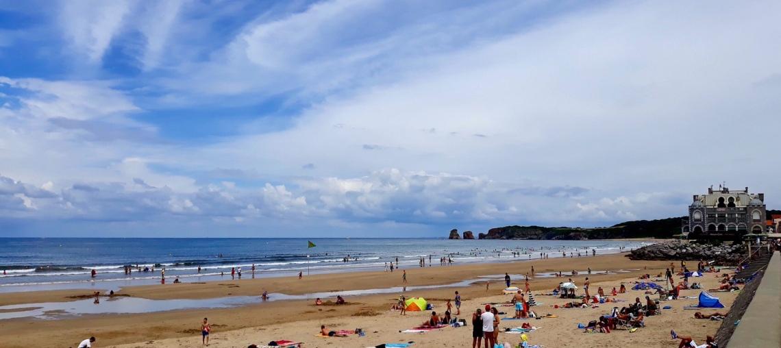 Hendaye, plage, côte basque