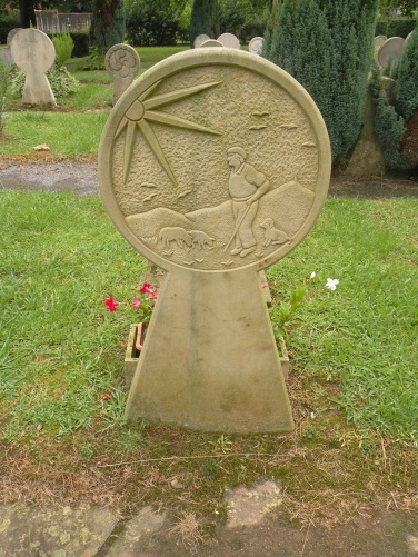 Stéle discoidale au cimetière d'Ascain