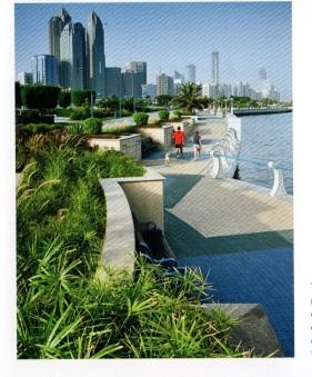 Abu Dhabi promenade sur la corniche
