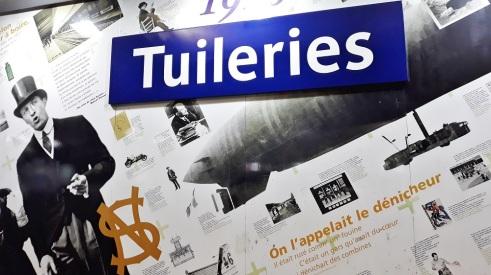 Ligne 1 du métro PARISIEN station Tuileries