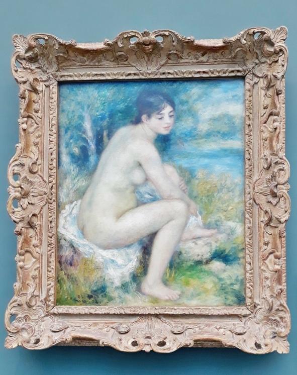 Auguste Renoir ; femme nue dans un paysage