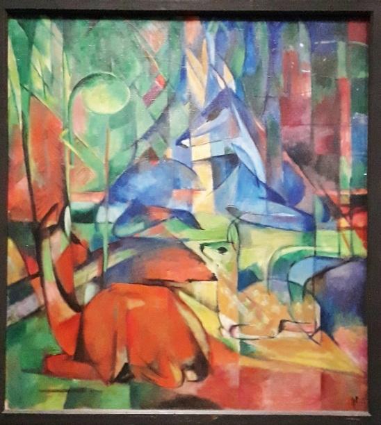 Franz Marc. Chevreuils dans la forêt 1916