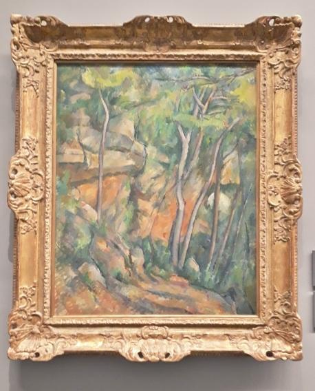 Paul Cezanne . dans le parc du château