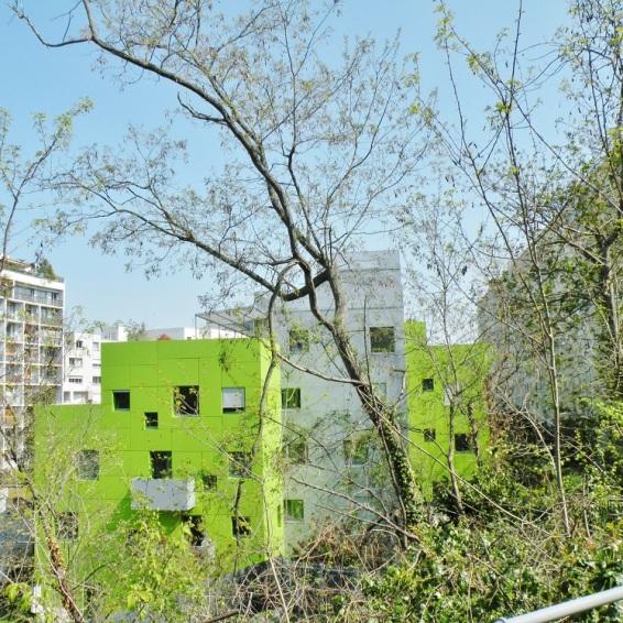 les immeubles colorés du 15é