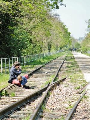 les voies ferrées de la petite ceinture