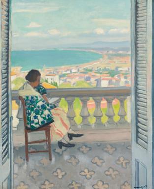 Albert Marquet, midi, vue, côte d'azur, mer, art, peinture, fauvisme
